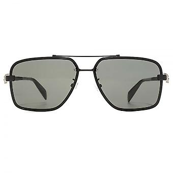 Alexander McQueen Iconic Skull Pilot Sunglasses In Black