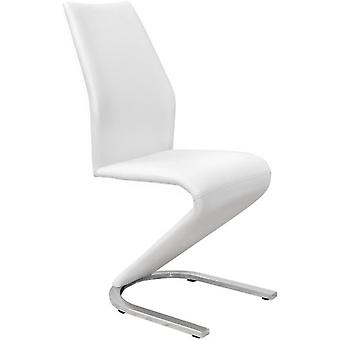 SZ Suárez Unique Skin Lounge Chair In Pu White / Chrome 430X620X998Mm