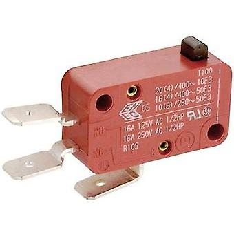 Microswitch 250 Vac 8 A 1 x On/(On) Marquardt 0100