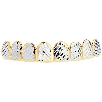 Gold Grillz - one size fits all - full size diamond cut IV.