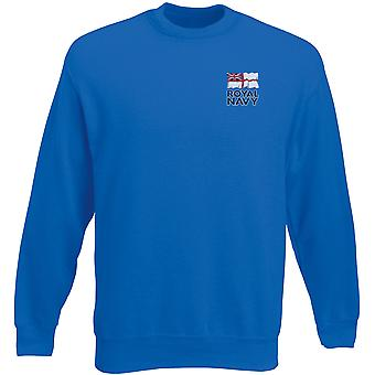 Royal Navy Flag Embroidered Logo - Official Heavyweight Sweatshirt