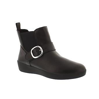 FitFlop Superbuckle Chelsea Boot - Black (Leather) Womens Boots