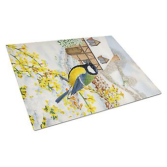 Carolines Treasures  ASA2052LCB Great Tit Glass Cutting Board Large