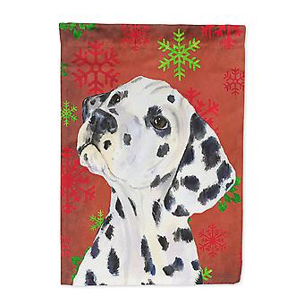 Carolines Treasures  SS4699-FLAG-PARENT Dalmatian Red and Green Snowflakes Holid