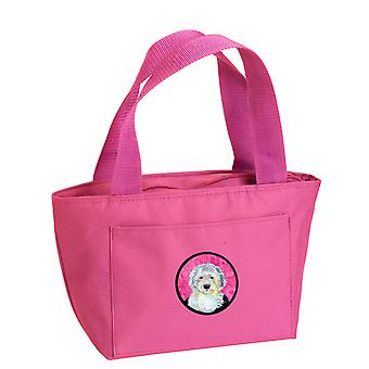 Carolines Schätze LH9396PK-8808 rosa Old English Sheepdog Lunch-Bag oder Doggi