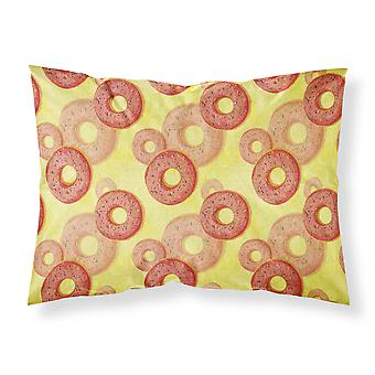 Watercolor Just Donuts Fabric Standard Pillowcase