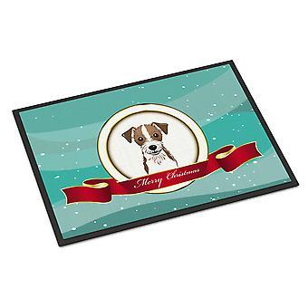 Jack Russell Terrier Merry Christmas Indoor or Outdoor Mat 18x27