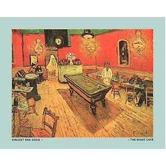 Night Cafe med billardbord plakat Print af Vincent van Gogh (30 x 24)