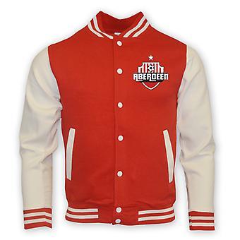 Aberdeen College Baseball Jacket (rosso)