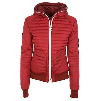Rossignol women's RLFWJ54392 red nylon Quilted Jacket