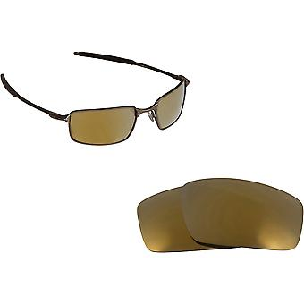 Best SEEK Polarized Replacement Lenses for Oakley SQUARE WIRE (2006) Gold Mirror