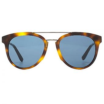 Salvatore Ferragamo Classic Double Bridge Sunglasses In Tortoise