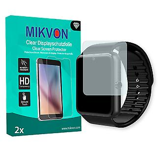 Yamay Bluetooth Smartwatch Screen Protector - Mikvon Clear (Retail Package with accessories) (intentionally smaller than the display due to its curved surface)