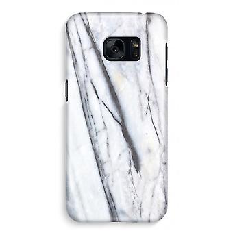 Samsung S7 Full Print Case - stripete marmor