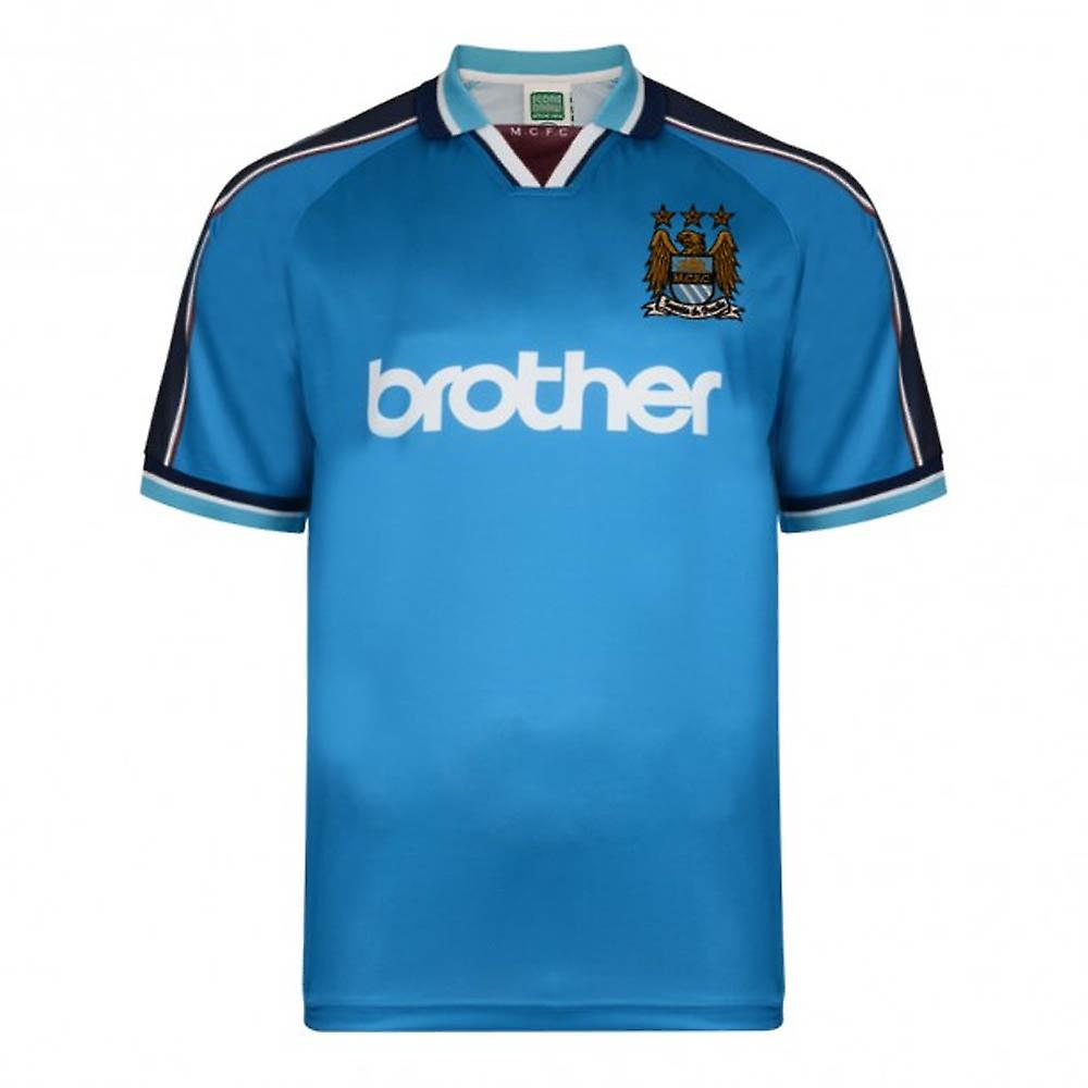 Score Draw Manchester City 1998 maillot domicile