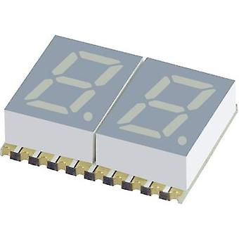 Seven-segment display Green 7.62 mm 2 V No. of digits: 2