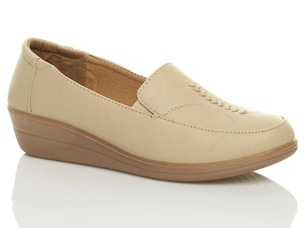 Ajvani womens comfort wedge work flat flexible comfort womens loafers slippers walking shoes:High Quality:Men's/Women's 123e10