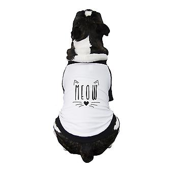 Meow Pet Baseball Jersey Small Dogs Clothes