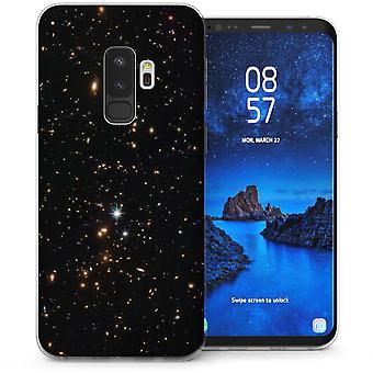 Samsung Galaxy S9 sowie leuchtende Sterne TPU Gel Case - schwarz