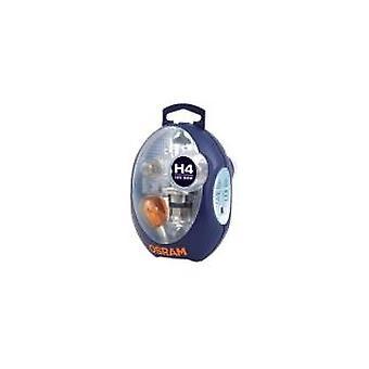 Osram H4 [472/P43T] ekstra UK/europæiske pære + Fuse Kit