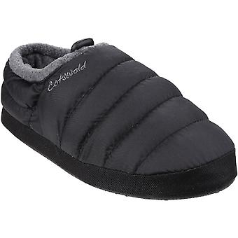 Cotswold Womens/Ladies Soft Faux Fur Collar Padded Camping Slippers