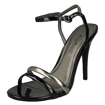 Ladies Anne Michelle Ankle Strap Party Shoes L3379