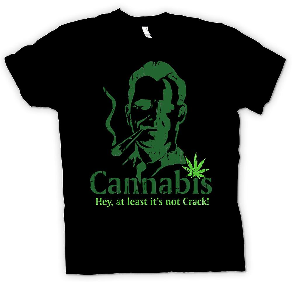 Mens T-shirt - Cannabis - At Least Its Not Crack