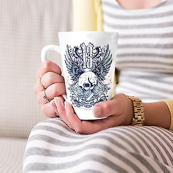 Lucky czaszki trzynaście nowych Biała herbata kawa Latte ceramiczny kubek 17 oz   Wellcoda