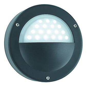 Led Outdoor Wall Light Black - White Led