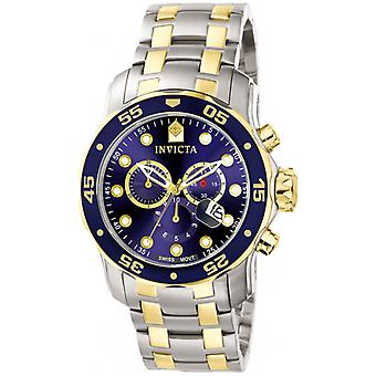 Invicta  Pro Diver 0077  Stainless Steel Chronograph  Watch