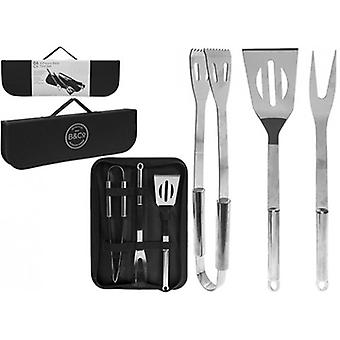 Summit B&CO 3 PC BBQ Tool Set With Carry Case