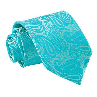 Klassische Krawatte Türkis Paisley