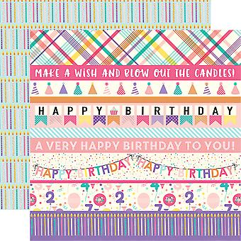Happy Birthday Girl doppelseitigem Cardstock 12