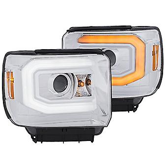 AnzoUSA 111372 Headlight (Projector W/Plank Style Switchback Chrome W/Drl Gmc Pair)
