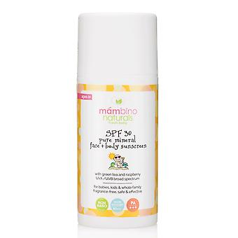 Mambino Organics SPF 30 Baby & Kids Natural Mineral Sunscreen