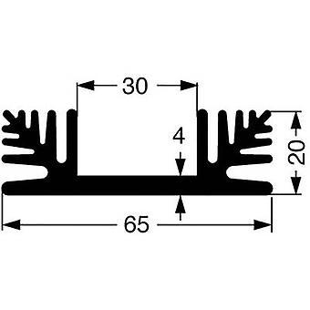 Heat sink 2.5 C/W (L x W x H) 75 x 65 x 20 mm Fischer Elektronik SK 48 75 SA