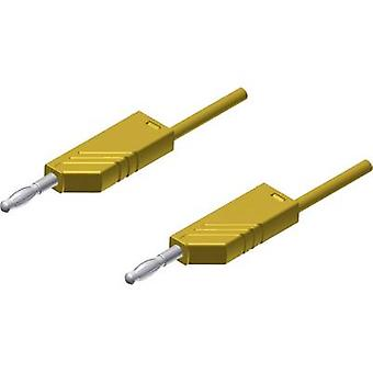 SKS Hirschmann MLN 25/2,5 GE Test lead [Banana jack 4 mm - Banana jack 4 mm] 0.25 m Yellow