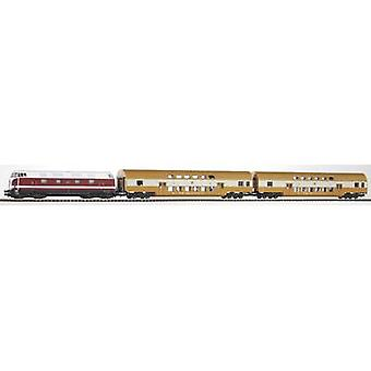 Piko H0 57135 H0 Start set series 118 diesel locomotive with double-decker train of DR