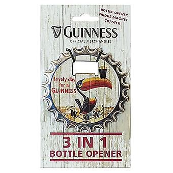 Guinness 3 In 1 Bottle Opener / Fridge Magnet / Coaster