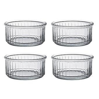 Duralex Set of 4 Clear Ramekins, 10cm