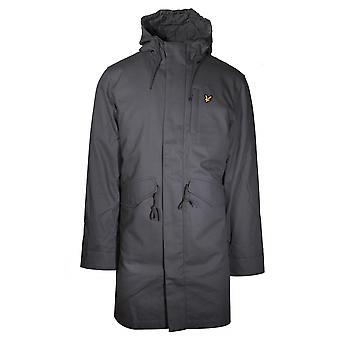 Lyle & Scott Lyle & Scott Grey Wax Parka Jacket