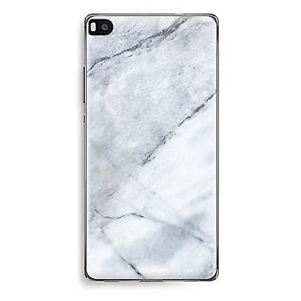Huawei Ascend P8 Transparent Case (Soft) - Marble white