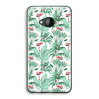 HTC U Play Transparent Case (Soft) - Flamingo leaves
