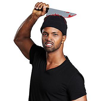 Mütze Halloween mit Messer