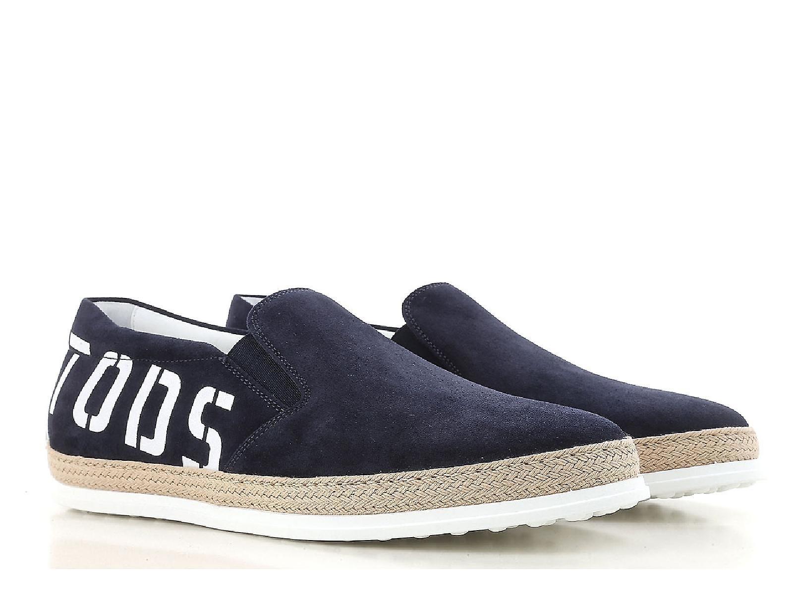 Tod& 039;s men& 039;s slip-ons scarpe in blu suede leather | Tocco confortevole  | Scolaro/Ragazze Scarpa