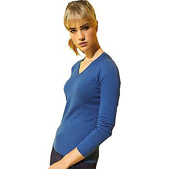Outdoor Look Womens Arvia V Neck Cotton Blend Sweater Jumper