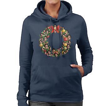 Christmas Wreath Multi Kendrick Lamar Women's Hooded Sweatshirt