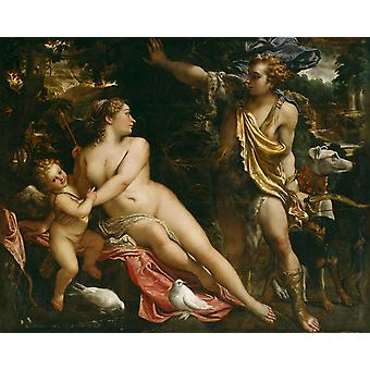 Venus and Adonis, Annibale Carracci, 50x40cm