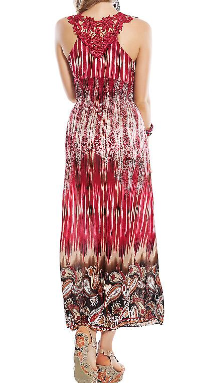 Waooh - Fashion - Dress long paisley embroidery and insert