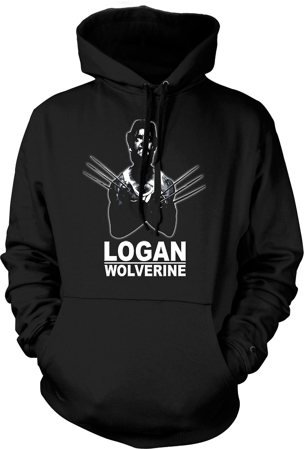 Mens Hoodie - Logan Wolverine - X - Men - Comic